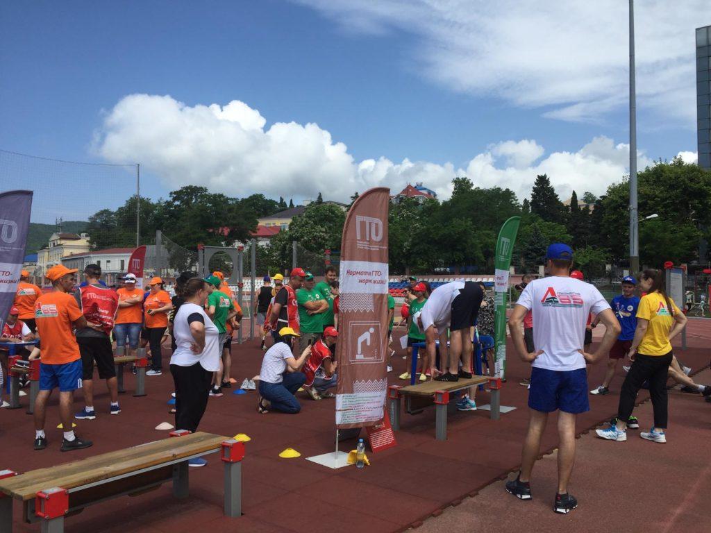 Работники ОАО «Российские железные дороги» приняли участие в летнем фестивале ГТО